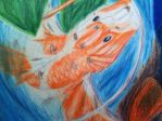 Detail 5 Colored Pencil Koi by Okami1reeKa333