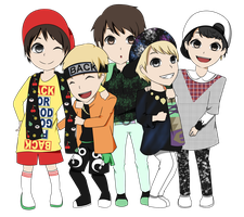 SHINee 3 2 1 chibi by mysimpleme14