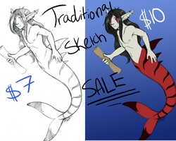 Traditional Sketch Sale by Kaito-Fletcher