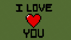 Minecraft - I Love You by Ness4049