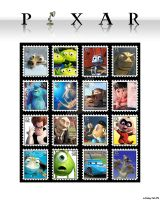 Pixar Stamps by Logmister
