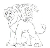 Winged Lion??? by nooby-banana