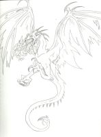 Another Oldish Wyvern Sketch by RoomsInTheWalls