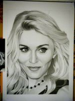 Drawing Madonna 9 by Sivine