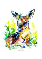 Small Fawn by ClaraBacou
