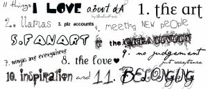 .:11 things I love about dA:. by BlueEcoFreak