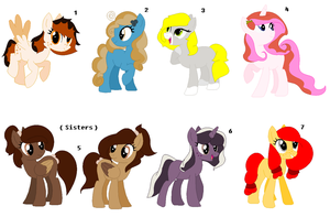 ~ Food Themed Pony Adopts ~ CLOSED by IIbukiMioda