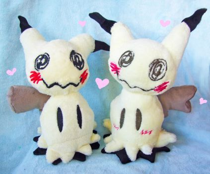 Girl and boy Mimikyu plush by scilk