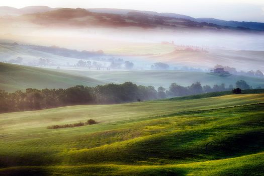 Tuscany in the fog by CitizenFresh