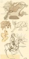 Dump of Sketches from the Land of Work by Vattukatt