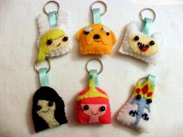Adventure Time  Keychains by vklolita
