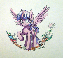 Twilight Sparkle Watercolor by Moenkin