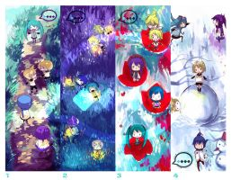 Vocaloid four seasons bookmark by OXMiruku