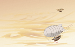 Airships by netsui
