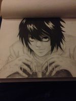 L Lawliet: I am justice. by MyWhiteRose01
