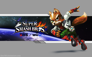 Fox Wallpaper - Super Smash Bros. Wii U/3DS by AlexTHF