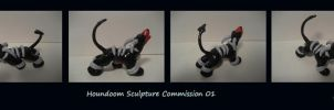 Custom Houndoom Sculpture 02 by The-Bluetip