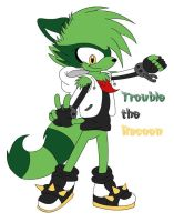 Trouble the Racoon by tacofacedrawer