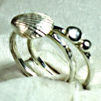 Beach Stacker Rings by contrarymary