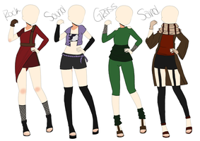 Naruto Outfit Adoptables #2. CLOSED by MissMondayMourning