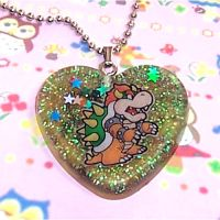 Bowser Resin Necklace by bapity88