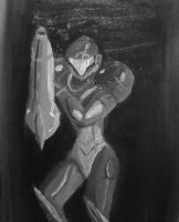Samus Aran Oil Painting by nin10aaron