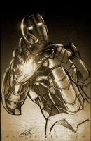 Iron man sketch 03 by rafater