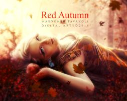 Red Autumn by MasoumehTavakoli-Art
