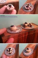 Miniature: Blueberry cheesecakes by fiat500S