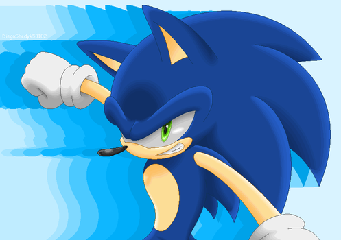 Sonic Pixel Art Test by DiegoShedyk53182