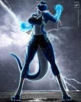 Freedom Fighter Blue Yoshi_Complete by wsache007