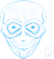 Sketched Alien Head by StaticRed