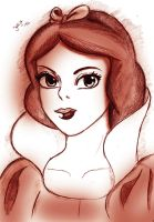 Fanart Snow white disney by Visjel