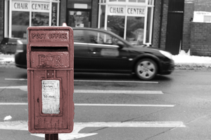 The Red Postbox by blueandwhitestripes