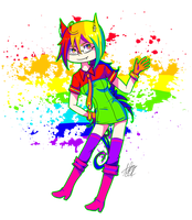 COLOR GIRL by Mathi-das-M