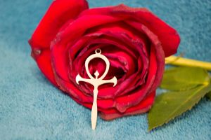 Ankh and Rose 1 by DeLucr-Stock