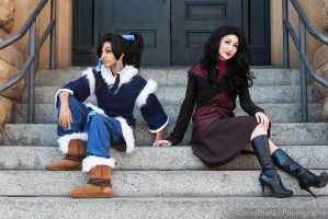 Korrasami - Legend of Korra by Mostflogged