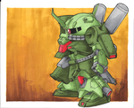 SD Zaku III by DiscOhBot