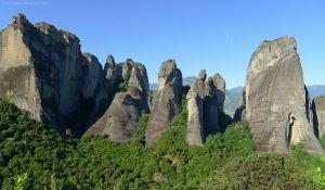 Meteora Rock Formation by bobswin