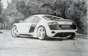 Audi R8 by long-haired-lady