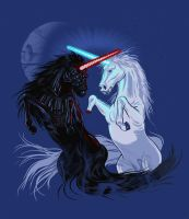 Starwars with unicorns by biotwist
