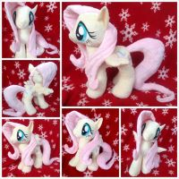 Fluttershy Plushie (Open Wing) by equinepalette