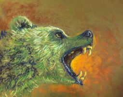 Green Bear by hibou-caillou