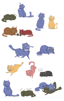 Cat-verse doodles by Vandenpoel