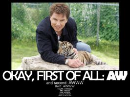 John Barrowman With A Tiger by MyBizarreRomance