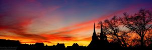 Koethen Skyline Sunset by MatthiasHaltenhof