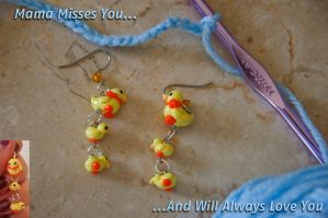 Mama and Baby Duckie Earrings by Demi-Plum