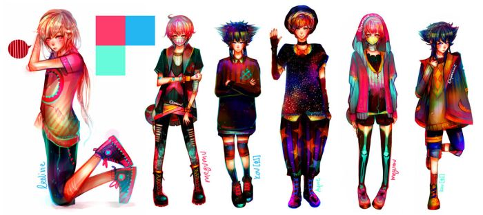 Character Designs by sepiablue