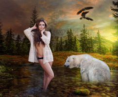 The Girl and Her Bear by Elchanan