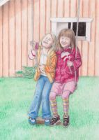 Littlesister Maddie and me by mickinene